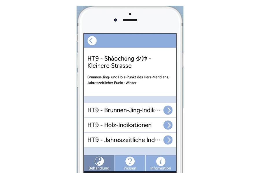 HT9 anklicken: Übersicht verschiedene Indikationen